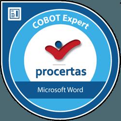 cobot expert microsoft word logo